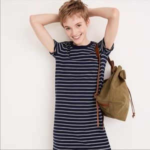Madewell Epperson Tee T-shirt Striped Navy Dress L